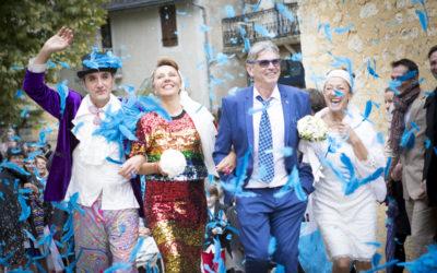 Mariage funky en Dordogne
